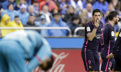 Football Soccer - Deportivo v Barcelona - Spanish La Liga Santander