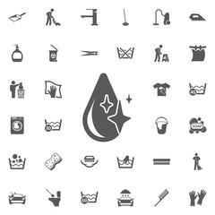 Drop icon vector.
