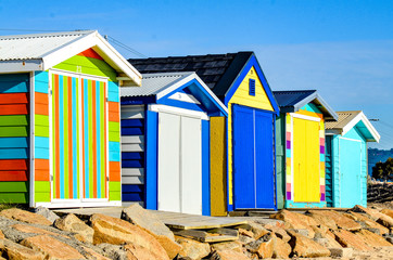Melbourne Colorful Beach Huts