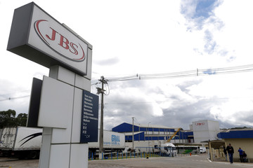 General view of Brazilian meatpacker JBS SA in the city of Lapa