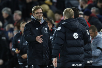 Bournemouth manager Eddie Howe and Liverpool manager Juergen Klopp after the match