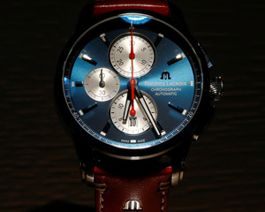 Maurice Lacroix Pontos Chronograph watch at the Baselworld Watch and Jewellery Show in Basel