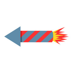 Fireworks rocket icon vector illustration petard pyrotechnics