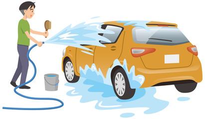 洗車のイメージイラスト