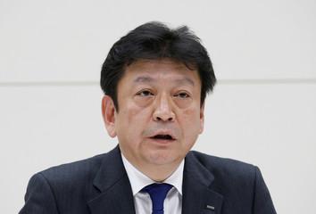 Tokyo Electric Power Co HoldingsÕ new president Tomoaki Kobayakawa speaks at a news conference in Tokyo
