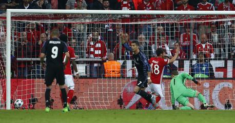 Real Madrid's Cristiano Ronaldo celebrates scoring their second goal