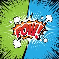 Pow! Comic Speech Bubble, Cartoon. art and illustration vector file.