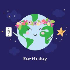 Earth day illustration - vector