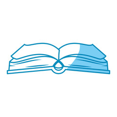 academic book icon over white background. vector illustration