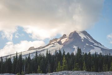 Mount Hood and Forest Landscape