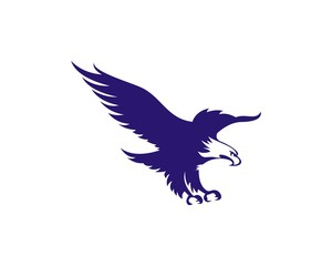 Eagle Illustration Logo Vector