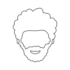Male faceless head icon vector illustration graphic design