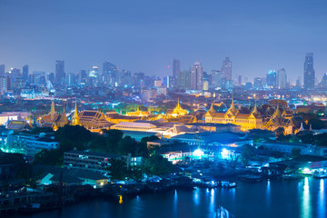Bangkok city skyline business district and landmark.