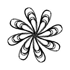 symmetric figure icon over white background. vector illustration
