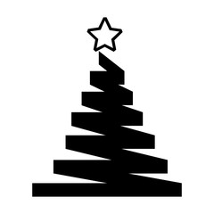 merry christmas pine tree vector illustration design