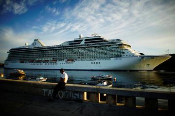 U.S. Norwegian Cruise Line Holdings cruise ship Marina arrives at the Havana bay