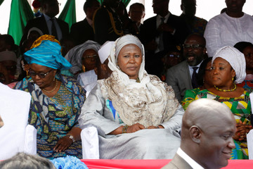 Gambia new Vice President Ms. Fatoumata Jallow Tambajang, is seen during President Adama Barrow's swearing-in ceremony and the Gambia's Independence day ceremony at Independence Stadium, in Bakau