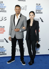 Actor Howard and guest arrive at the 2017 Film Independent Spirit Awards in Santa Monica
