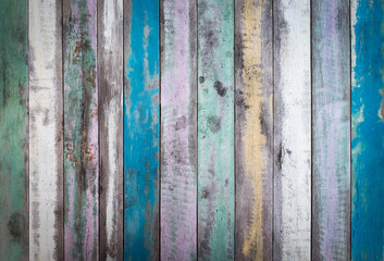Old colored grunge wooden texture background