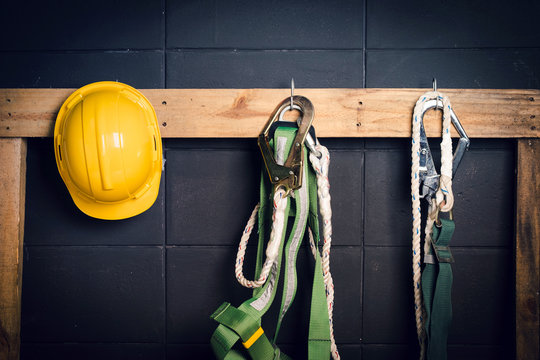 Standard construction safety ,helmet, fall protection
