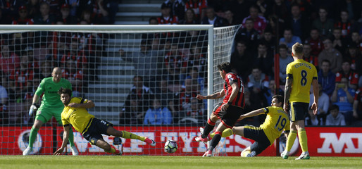 Bournemouth's Charlie Daniels scores their fourth goal