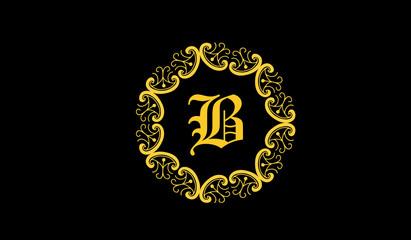 B decorative logo