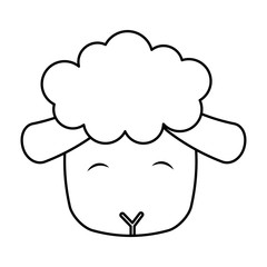 cute sheep manger character vector illustration design