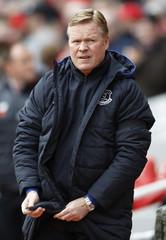 Everton manager Ronald Koeman before the match