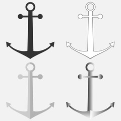 A set of anchors
