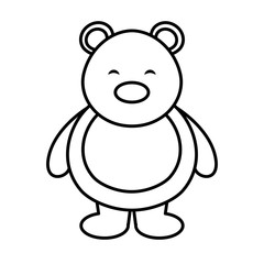polar bear cute character vector illustration design