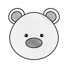polar bear cute character vector illustration design
