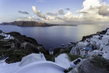 Caldera view from Oia village, Santorini island, Greece
