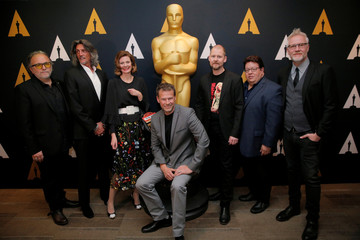 Nominees for the Academy Award for Makeup and Hairstyling pose for photographs at a reception for nominees before the 89th Academy Awards in Los Angeles, California