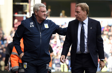 Birmingham City manager Harry Redknapp and Aston Villa manager Steve Bruce before the match