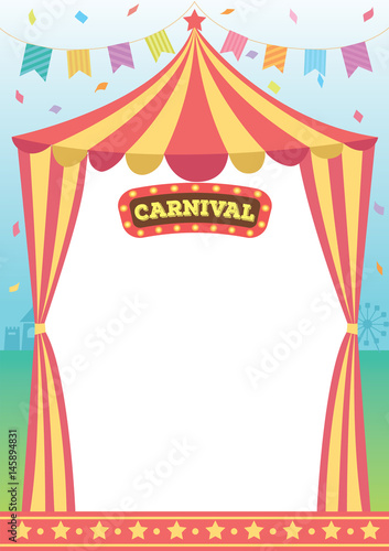 Illustration vector of circus tent of carnival decorated with illustration vector of circus tent of carnival decorated with bunting and sign design for template maxwellsz