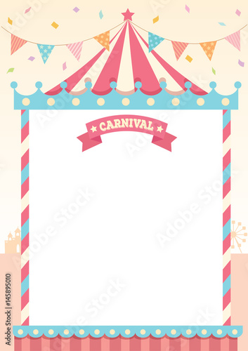 illustration vector of circus tent of carnival decorated with