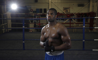Daniel Dubois poses for a photograph