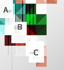 Modern geometrical abstract background, squares