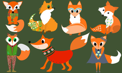 Cute Fox Clipart Animals clipart