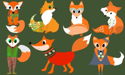 Cute Fox Clipart Animals clipart