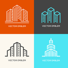Vector set of  logo design templates - architecture and building signs