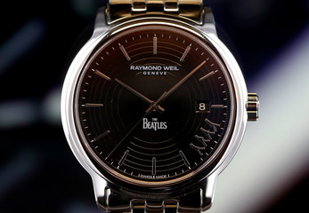 Raymond Weil Maestro Beatles watch at the Baselworld Watch and Jewellery Show in Basel