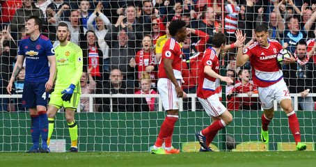 Middlesbrough's Rudy Gestede celebrates scoring their first goal