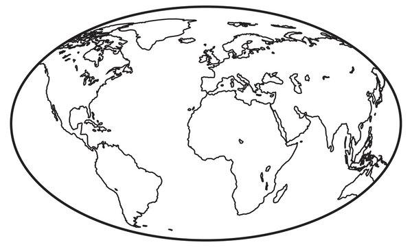 Globe contour icon