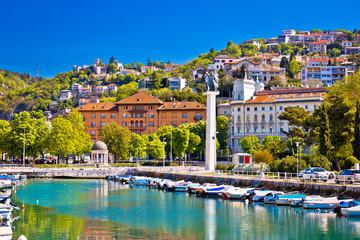 City of Rijeka Delta and trsat view Fototapete