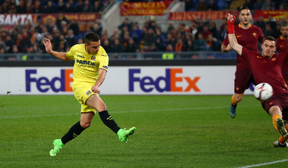 Villarreal's Santos Borre scores their first goal