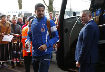 Crystal Palace's Zeki Fryers arrives before the game
