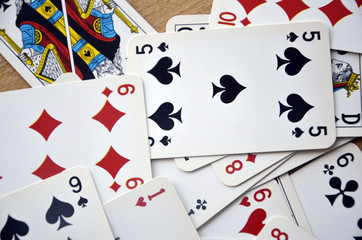 Cartes à jouer-Pêle-mêle de 52 cartes