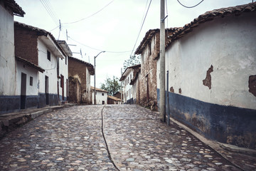 View of a small village in Ayacucho, Peru.
