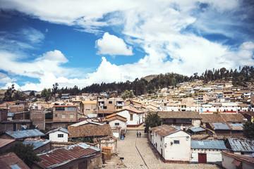 Vilcashuaman village in Ayacucho, Peru.